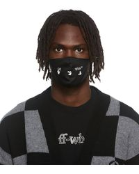 Off-White c/o Virgil Abloh Off- Logo Print Mask - Black