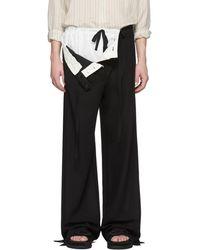 Ann Demeulemeester - Black Petals Trousers - Lyst