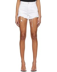 Alexander Wang White Bite Shorts