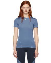 Nike ブルー トレーニング T シャツ