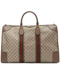Gucci Beige GG Ophidia Duffle Bag - Natural