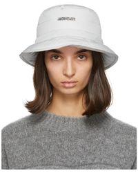 Jacquemus Gray Le Bob Doudoune Beach Hat