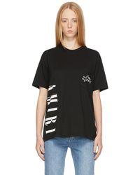 Amiri Black Vertical Logo T-shirt