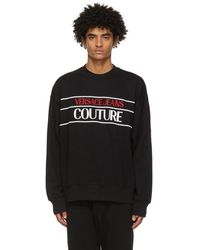 Versace Jeans Couture ブラック ロゴ スウェットシャツ