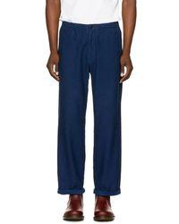 Blue Blue Japan Indigo Relax Trousers - Blue