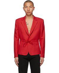 Random Identities Red Tie Blazer