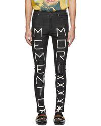 Gucci Black Memento Mori Skinny Jeans