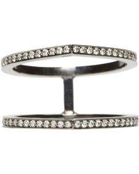 Repossi - Black Gold Pave Diamond Double Antifer Ring - Lyst