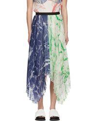 Marina Moscone マルチカラー Plissé スカート - ブルー