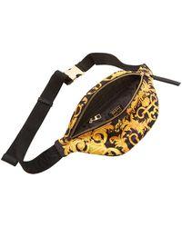 Versace Jeans Couture Black & Yellow Baroque Belt Bag - Multicolor