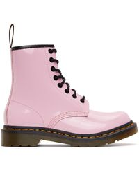 Dr. Martens ピンク 1460 レースアップ ブーツ