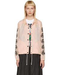 Ashley Williams Pink Cherub Coach Jacket