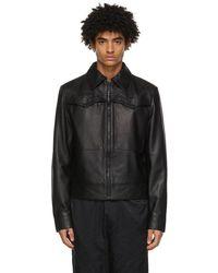 Versace Jeans Couture Black Lambskin Western Jacket