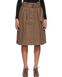 Lemaire ブラウン デニム Bell スカート
