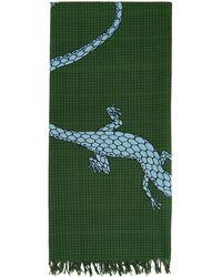Loewe Paula's Ibiza コレクション グリーン Lizard ストール