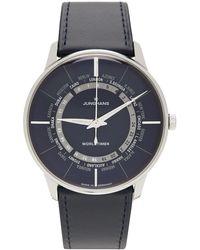 Junghans ブルーシルバー Meister Worldtimer 腕時計