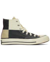 Converse Black And Grey Chuck 70 Hi Trainers - Multicolour