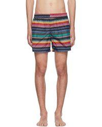 Missoni - Black Zig Zag Swim Shorts - Lyst