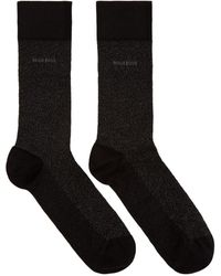 BOSS by Hugo Boss Black Mercerized Mini Pattern Socks