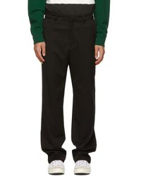 Noon Goons Black Twill Ahmed Trousers