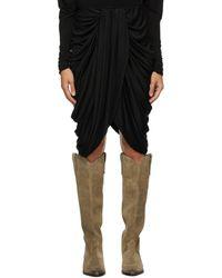 Isabel Marant Black Dotina Skirt