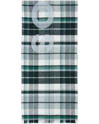 Acne Studios - Foulard a carreaux vert Victoria - Lyst