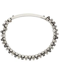 Alexander McQueen Bracelet argenté Skull - Métallisé