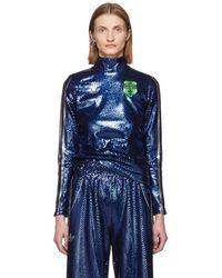 adidas Originals Anna Isoniemi Edition インディゴ シークイン タートルネック - ブルー