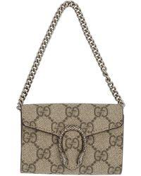 Gucci Beige GG Supreme Dionysus Coin Purse - Brown