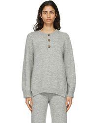 Nanushka Grey Lamee Sweater
