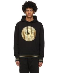 Versace Jeans Couture ブラック Coin ロゴ フーディ