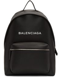 Balenciaga - Black Logo Everyday Backpack - Lyst