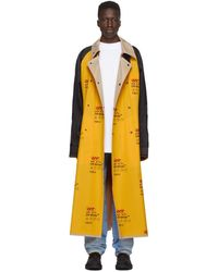 Off-White c/o Virgil Abloh Yellow Industrial Trench Coat