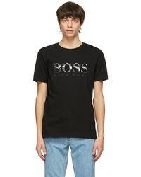 BOSS by Hugo Boss - ブラック Photographic ロゴ T シャツ - Lyst