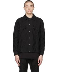 John Elliott ブラック オーバーシャツ ジャケット