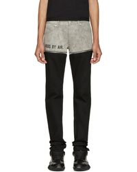 Hood By Air - Black And Grey Panty Jeans - Lyst