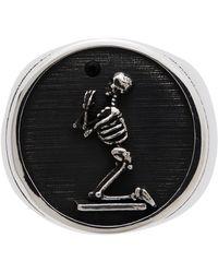 Stolen Girlfriends Club シルバー & ブラック Skeleton リング - メタリック