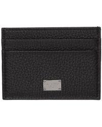 Dolce & Gabbana ブラック ロゴ プレート カード ホルダー