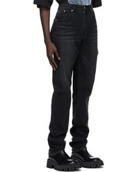 we11done Black Distressed Jeans