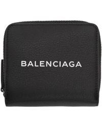 Balenciaga - Black Baltimore Logo Billfold Wallet - Lyst