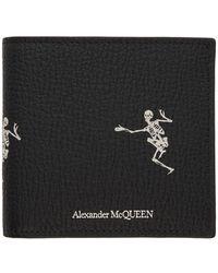 Alexander McQueen Black And Off-white Dancing Skeleton Wallet