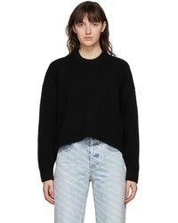 Alexander Wang - ブラック Drape Back セーター - Lyst