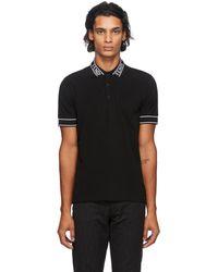 Fendi ブラック ロゴ カラー ポロシャツ