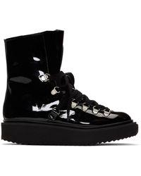 KENZO - Black Patent Alaska Boots - Lyst
