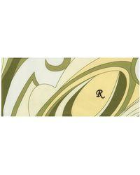 Raf Simons Foulard à col roulé jaune à imprimé - Multicolore