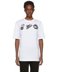 McQ - White Swallow Badge T-shirt - Lyst