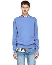 PS by Paul Smith - Blue Organic Crewneck Sweatshirt - Lyst