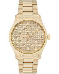 Gucci - ゴールド Pyramid Iconic G-timeless 腕時計 - Lyst