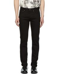 Givenchy - Black Slim-fit 4g Jeans - Lyst