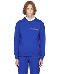 Alexander McQueen ブルー ロゴ スウェットシャツ